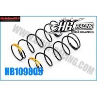 HB Ressort d'amortos AVT 1/8TT Yellow HB817 -HB109809