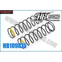 HB Ressort d'amortos ARR 1/8TT Yellow HB817 -HB109815
