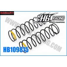 HB Ressort d'amortos AVT 1/8TT Yellow HB817 -HB109815