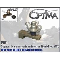 Support de carrosserie arrère OPTIMA sur silent-bloc gris - PO11