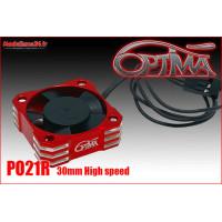 Ventilateur haute vitesse - 30mm rouge : PO21R