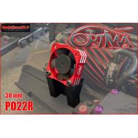 Ventilateur moteur universel 30mm (rouge avec support) : PO22R