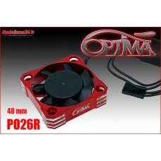 Ventilateur haute vitesse - 40mm rouge : PO26R