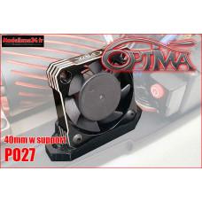 Ventilateur moteur universel 40mm (noir avec support) : PO27