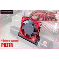 Ventilateur moteur universel 40mm (rouge avec support) : PO27R