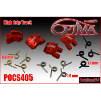 OPTIMA Masselottes Alu 4 Pts GRIP ROUGE avec Ressorts (20 pcs) - POCS405