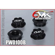 Ecrous de roues borgne 6mik noir - PW0100B