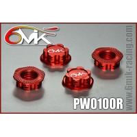 Ecrous de roues borgne 6mik rouge - PW0100R