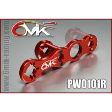 Clé à roue et embrayage 6mik rouge - PW010R