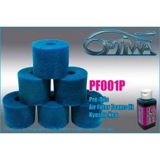 Mousses de filtre à air 6MIK pour NEO / RB / 6MIK pré-huilées (6 pcs) - PF001P