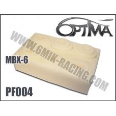 Mousses de filtre à air 6MIK blanche (6 pcs) pour MUGEN / X-RAY - PF004