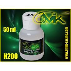 Huile silicone 6mik grade 200 ( 50ml ) - H200