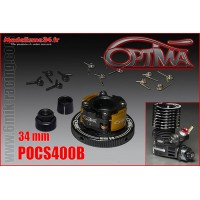 OPTIMA Embrayage 4 Points Alu Complet 34mm Noir - POCS400B