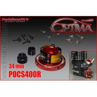 OPTIMA Embrayage 4 Points Alu Complet 34mm Rouge - POCS400R