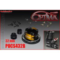 OPTIMA Embrayage 4 Points Alu Complet 32mm Noir - POCS432B