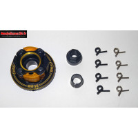 "OPTIMA Embrayage 4 Points "" V2""  Alu Complet 34mm Noir - POCS400B"