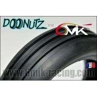 """Pneus 6mik 1/10 """"DOONUTZ"""" - RED (la paire + Mousse) - TM104R"""