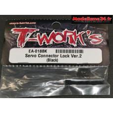 T-Work's Fixation sécurisée pour prise de servos : TEA018BK