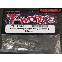 T-Work's Clips de carrosserie 1/10e (10) : TA121M