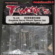 T-Work's Cales de réhausse servo carbone ( 3 paires ) : TA125