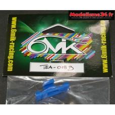T-Work's Fixation bleue sécurisée pour prise de servos : TEA018B