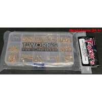 T-Work's Kit de vis Nitride Gold complet pour MP10 : TGSS-MP10