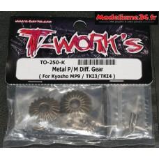 T-Work's Kit pignons de différentiel acier MP10 : TO-250-K