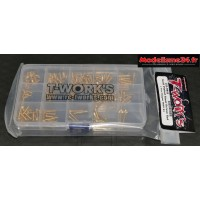 T-work's Kit de vis Nitride Gold complet pour Mugen MBX8 : TGSS-MBX8