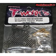 T-Work's Platine sauve servo carbone MBX-8 : TO-213M