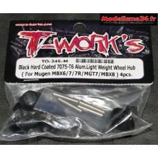 T-Work's Hexagones de roues light standard pour MBX-8 ( 4 pièces ) : TO-245-M