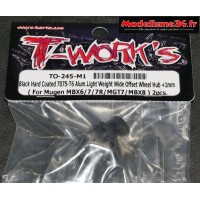 T-Work's Hexagones de roues light + 1mm pour MBX-8 ( 2 pièces ) : TO-245-M1
