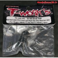 T-Work's Hexagones de roues light + 2mm pour MBX-8 ( 2 pièces ) : TO-245-M2
