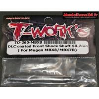 T-Work's Tiges d'amortisseurs avant traitées DLC pour MBX8 : TO260M