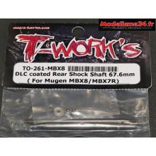 T-Work's Tiges d'amortisseurs arrières traitées DLC pour MBX8 : TO261M