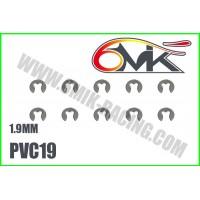 Circlips inox 1,9mm ( 10 ) - 6mik PVC19