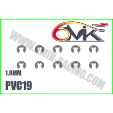 Circlips inox 1,9mm ( 10 ) - 6mik PVC19
