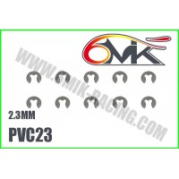 Circlips inox 2,3mm ( 10 ) - 6mik PVC23