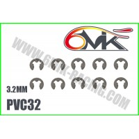 Circlips inox 3,2mm ( 10 ) - 6mik PVC32