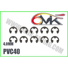 Circlips inox 4mm ( 10 ) - 6mik PVC40