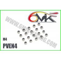 Ecrous Nylstop acier M4 (20 pcs) PVEN4
