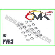 Rondelles Acier M3 (20 pcs )- PVR3
