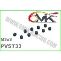 Vis Acier sans-tête M3x3 (10 pcs) - PVST33