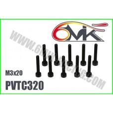 Vis Acier Tête Cylindrique M3x20 (10pcs) - PVTC320