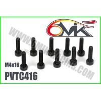 Vis Acier Tête Cylindrique M4x16 (10pcs) - PVTC416