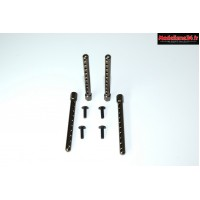 Supports de carrosserie en aluminium 1/10 (4pcs) : 1230249