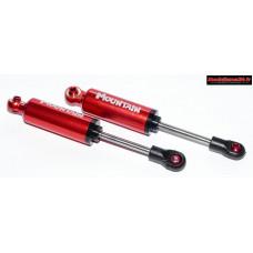 Amortisseurs réalistes avec ressorts intégrés rouge 100mm (2) : m815B