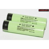 Batteries x2 3400Ah 3.7V Li-ion rechargeable type 18650 : m1189