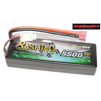 Batterie Gens Ace Pack Lipo 2S-7.4V-50C-5500 prise deans : GE3-5500-2D