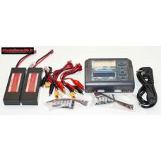 Combo chargeur C240 240w double sortie avec 2 batteries 2S 5200 : m1060