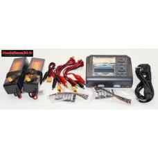 Combo chargeur C240 240w double sortie avec 2 batteries 3S 5000 + XT60 : m1063